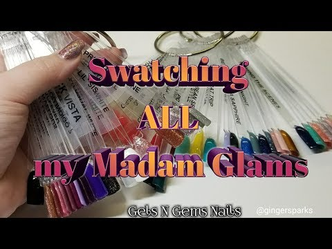 Madam Glam Swatch-A-Thon /Part 1/ Cat Eyes, Diamond Collection, & More...