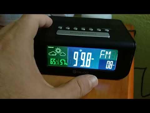 Very nice Radio alarm clock with weather forecast.