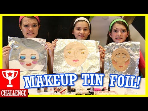 MAKEUP TIN FOIL CHALLENGE! With That Youtub3 Family!