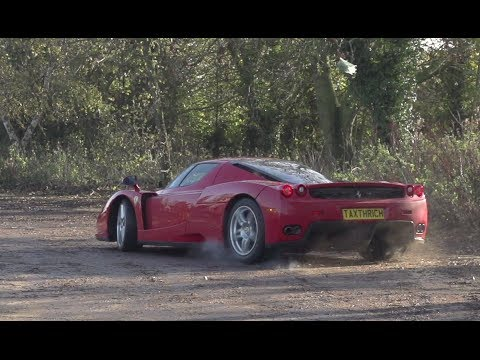 Ferrari Enzo Drifting in Slow Motion
