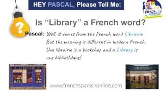 Is the word Library a French word?