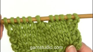 How to knit 4 stitches twisted together (decrease)