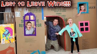 Last One To Leave The 2 Story Box Fort Wins!