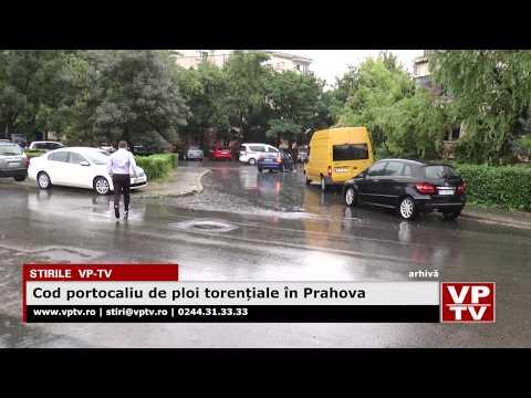 Cod portocaliu de ploi torențiale în Prahova