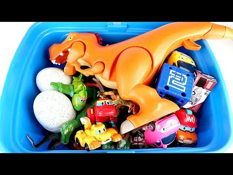 What In My Toy Box - Disney Pixar Cars Toy - Learn Dinosaurs Name Sounds Dinosaurs Movies For Kids