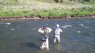 Fly Fishing on the Gallatin River Big Sky, MT  Aug. 4, 2010