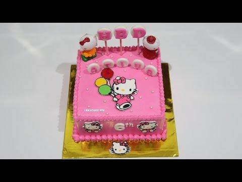 Hello Kitty Cake Cara Membuat Kue Ulang Tahun Kue Ultah