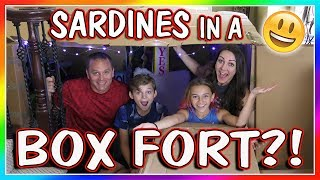 SARDINES IN A BOX FORT MAZE | HIDE AND SEEK | We Are The Davises