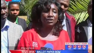 Gladys Boss Shollei takes a jab at NASA over the ballot paper row