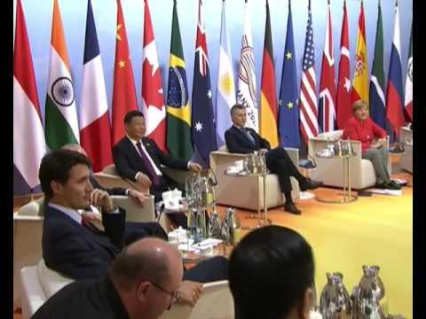 PM Modi at G20 Leaders' Retreat - Fighting Terrorism in Hamburg Germany