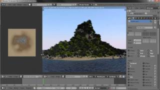 Creating an Island Environment in Blender - part 03