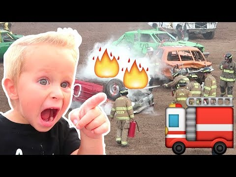 Car Catches On FIRE At The Derby!