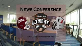 Backyard Bowl News Conference