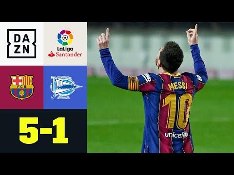 Doppelte Traumtore - Messi und Trincão ballern sich für PSG warm: Barça - Alavés 5:1 | LaLiga | DAZN