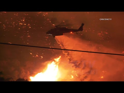 Fast-Moving Lake Fire Ravages 10,000+ Acres Near Lake Hughes (Night 1)