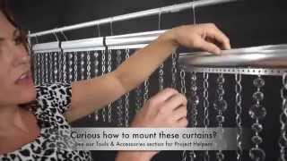 Metal Chain Curtains With Crystals - Custom Made Curtains Video