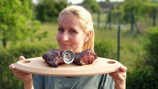 Hanger Steak/Rinder-Zwerchfell vom Char-Broil X200 Grill2go