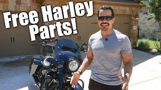 Wind splitter install - Free Harley parts!!