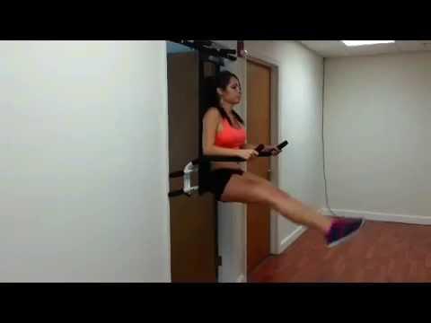 DFT-Abdominal Exercises-Vertical Leg Hip Raise on Parallel Bar