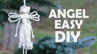 EASY DIY ANGEL | Christmas Craft Ideas By Macrame School