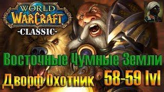 WOW Classic Dwarf Hunter / Играю за Дворфа Охотника Пламегор 58-59 лвл Восточные Чумные Земли