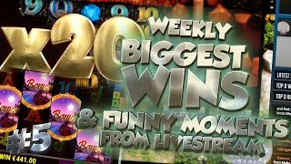 CASINO HIGHLIGHTS FROM LIVE CASINO GAMES STREAM WEEK #5 With Big Wins And Funny Moments