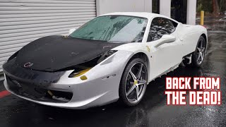 My WRECKED Ferrari 458 has a NEW FRONT END!!!