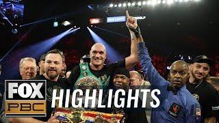 Tyson Fury TKO's Deontay Wilder for heavyweight title | FULL HIGHLIGHTS | PBC ON FOX