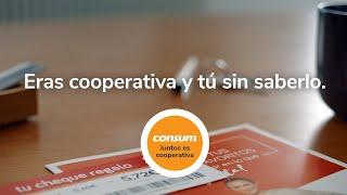 Supermercados Consum Cheques Ahorro - Juntos es Cooperativa - Consum anuncio