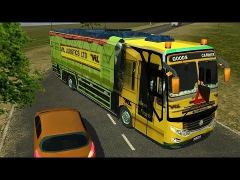 VRL LOGISTICS TRUCK Skin for Bussid|Indian Truck Game