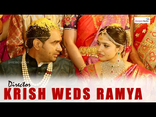 Director Krish & Ramya Wedding Video Watch and Download