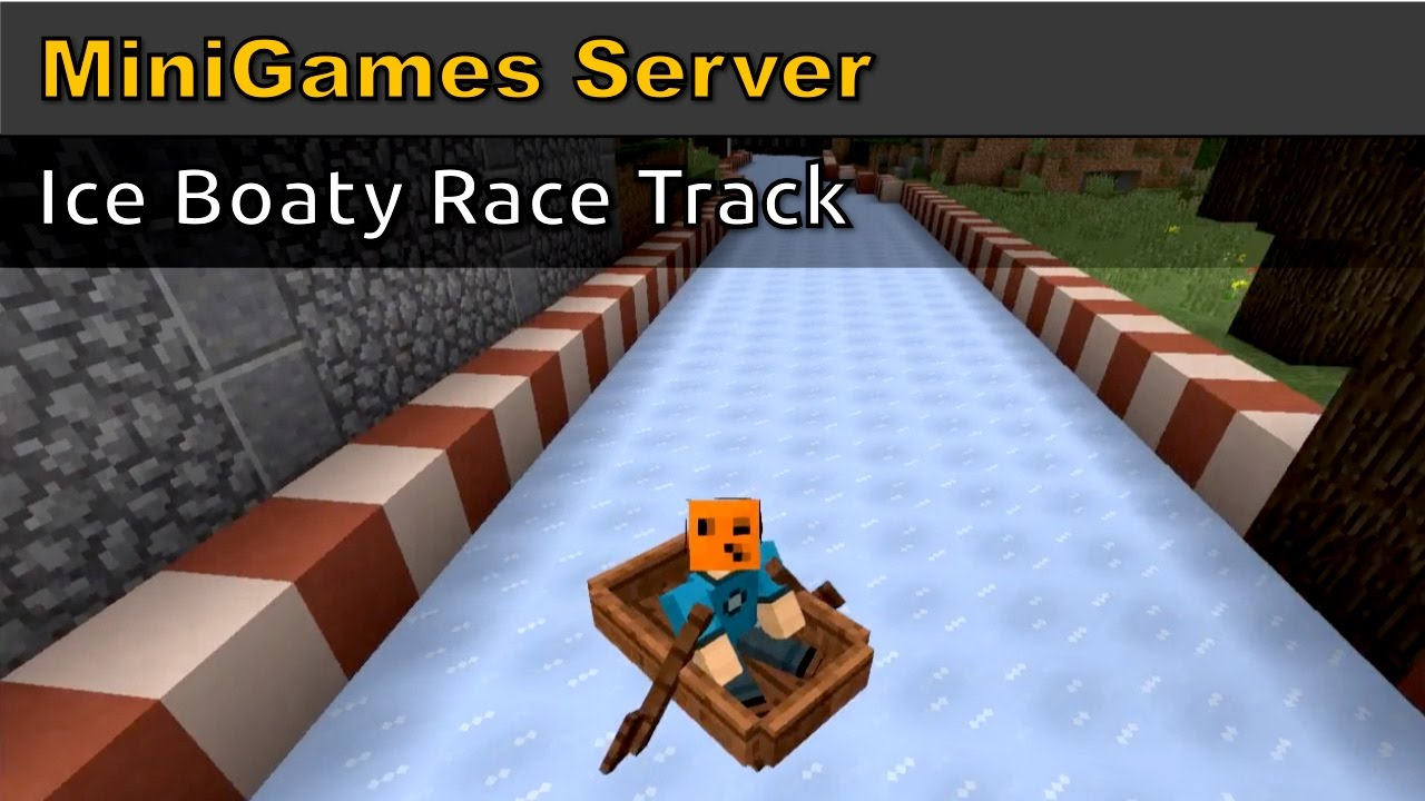 Minecraft Ice Boaty Race Track