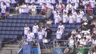 侍ジャパン習志野高校応援団と大学日本代表のエール交換