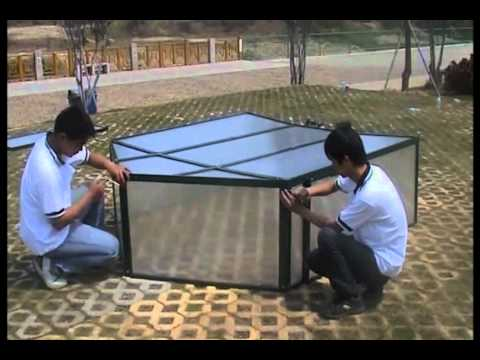 Invernadero modular policarbonato 213 X 184 X 130 cm