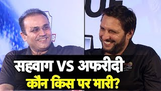 Sehwag vs Afridi : It's India vs Pakistan of a Different Kind   Sports Tak   T10 League