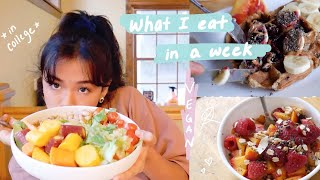 what i eat in a week as a college student 🍰 (vegan!!)