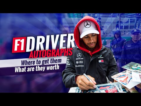F1 Driver Autographs: Where to get them and what they're worth!