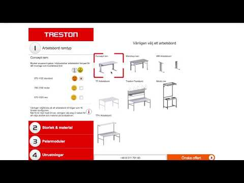 Treston 3D-Arbeitsplatz-Konfigurator