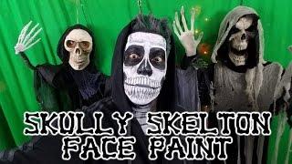 Halloween Skull Face Paint -  DIY