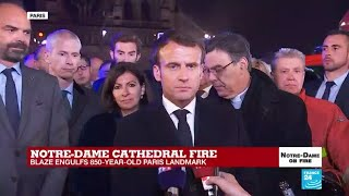 Macron On Notre Dame: 'This Cathedral Will Be Rebuilt'