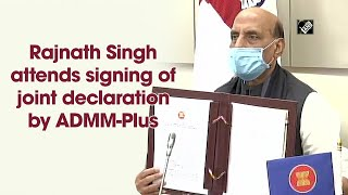 Rajnath Singh attends signing of joint declaration by ADMM-Plus