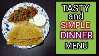 Tasty And Simple Dinner Menu In Tamil