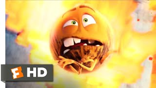 The Emoji Movie (2017) - Fireball and the Firewall Scene (7/10) | Movieclips