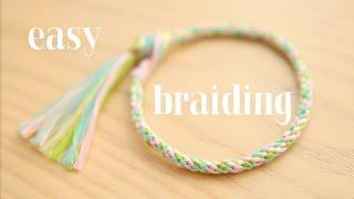 Как плести браслет из шнурков при помощи круга