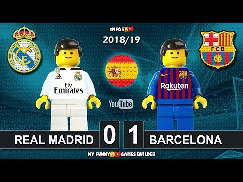 Real Madrid vs Barcelona 0-1 • El Clasico • LaLiga 2019 (02/03/2019) Goals ElClasico Lego Football