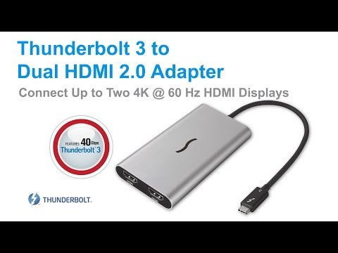 Sonnet Thunderbolt 3 to Dual HDMI Adapter Quick Overview