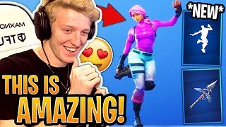 Tfue BUYS & Reacts to the *NEW* Slap Happy Emote and Tri-Star Pickaxe! - Fortnite Moments