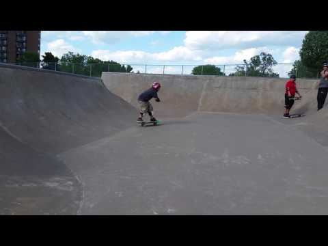 TriCity YMCA Skatepark Edina - Braiden Steen dropping in at the Super Bowl!