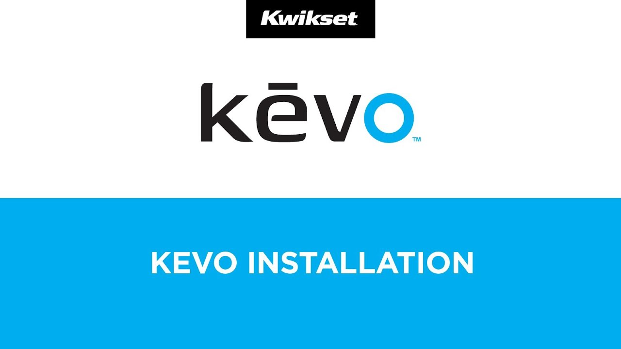 Kevo Smart Lock, 1st Gen Installation Tutorial -- Kwikset Kevo Bluetooth SmartKey Deadbolt