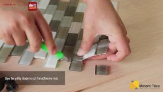 DIY Peel & Stick Glass Tile Backsplash Kit